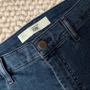 TOPSHOP Moto Joni Jeans in Dark Blue - 28
